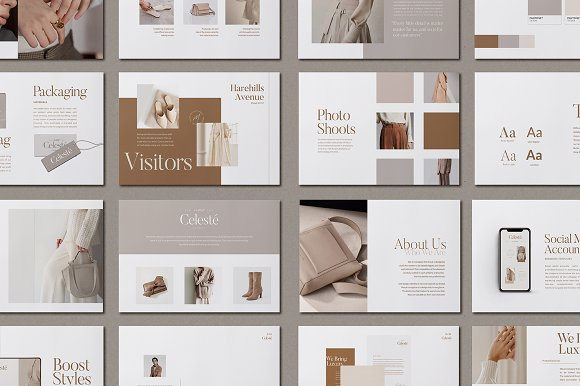 PS & CANVA Celeste Brand Guideline in Magazine Templates - product preview 4