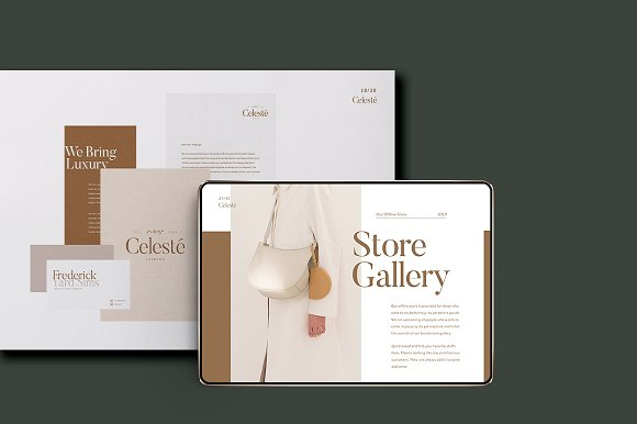 PS & CANVA Celeste Brand Guideline in Magazine Templates - product preview 5