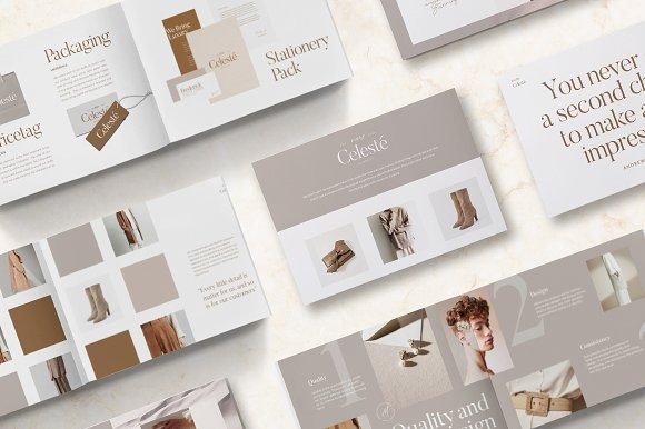 PS & CANVA Celeste Brand Guideline in Magazine Templates - product preview 6