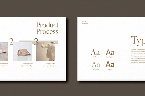PS & CANVA Celeste Brand Guideline in Magazine Templates - product preview 7