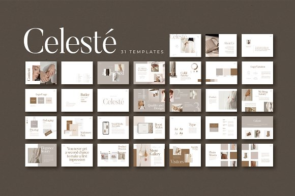 PS & CANVA Celeste Brand Guideline in Magazine Templates - product preview 10