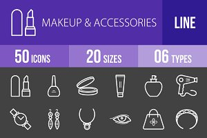 50 Makeup&Accessories Line Inverted