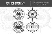 Seafood vintage emblems