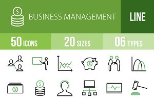 50 Business Management Green & Black