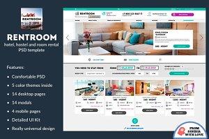 Rentroom – Hotel, Hostel & Rooms PSD