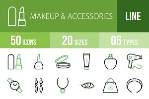 50 Makeup&Accessories Green & Black