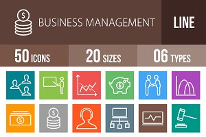 50 Business Line Multicolor Icons