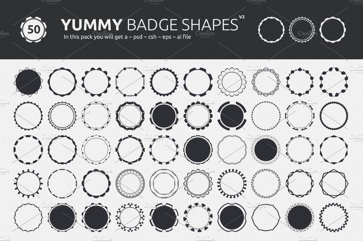 Photoshop police badge shapes
