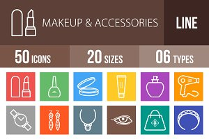 50 Makeup&Accessories LineMulticolor