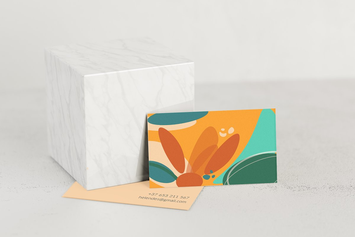 Bright Abstract Business Card Design