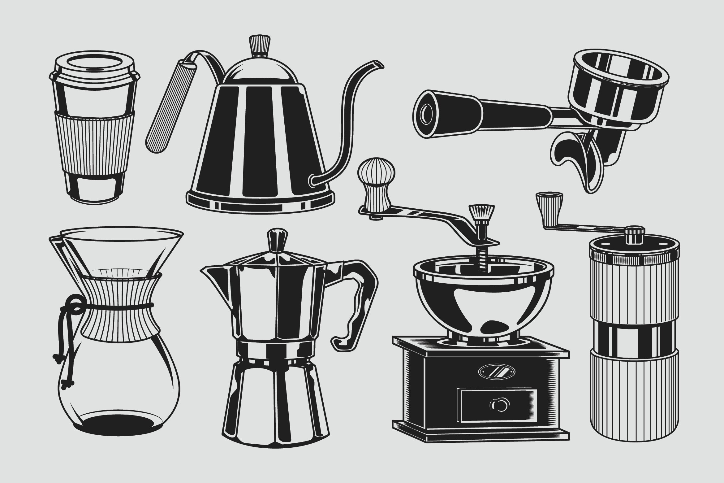Coffee Tools Illustration | Pre-Designed Illustrator Graphics ~ Creative  Market
