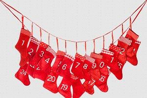 Advent calendar. Christmas PNG