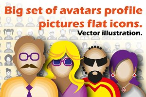 30 Icons With People Avatars.