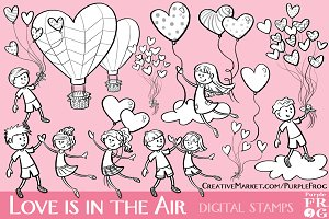 LOVE IS IN THE AIR - Digital Stamps