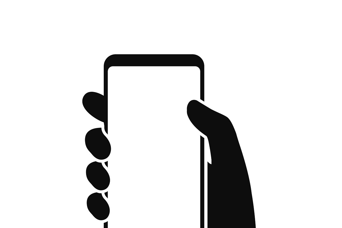 Hand holding smartphone icon | Custom-Designed Illustrations ...