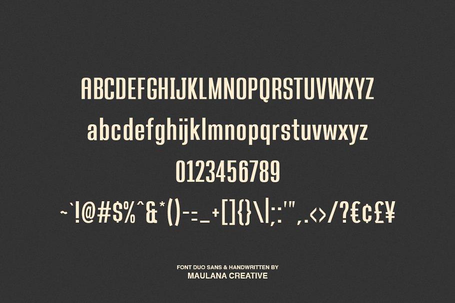 Pillish Font Duo - Sans And Script