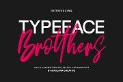 Brotthers - SVG Brush Free Sans Font