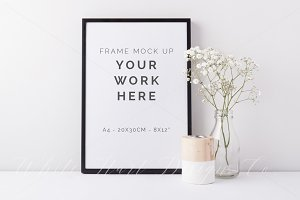 A4 black frame mock up - 7909