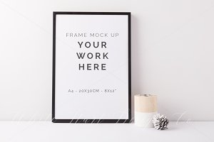 A4 frame mock up - PSD + Jpeg