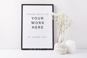 A4 black frame mock up - 7917