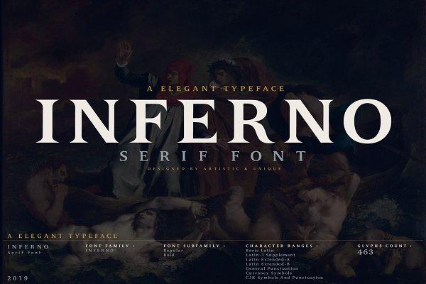 INFERNO Serif font