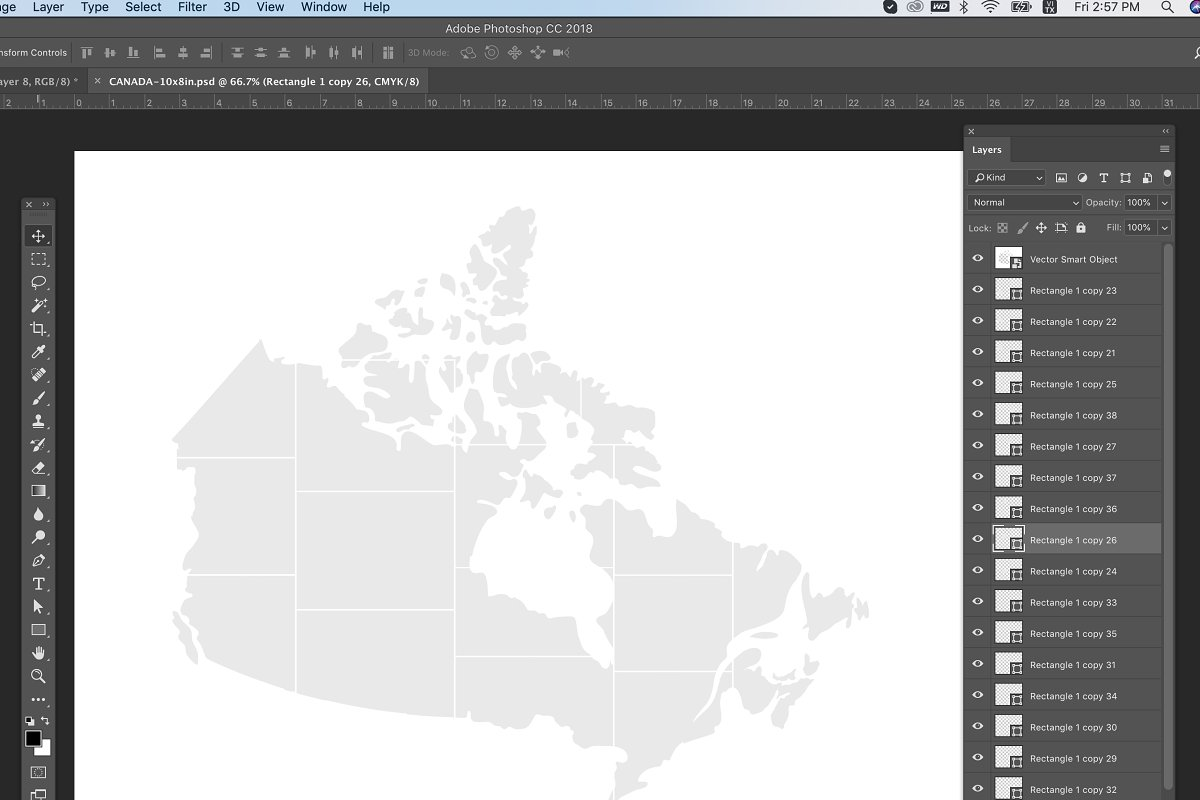 Canada Map Photo Collage Template
