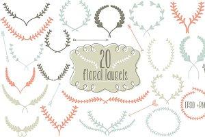 20 Floral Laurels