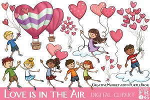 LOVE IS IN THE AIR - Digital Clipart