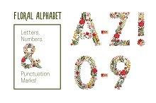 Cute Floral Alphabet