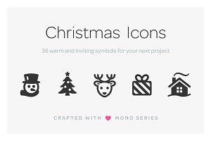 Mono Icons: Christmas