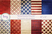 Americana Fourth Scrapbook Papers