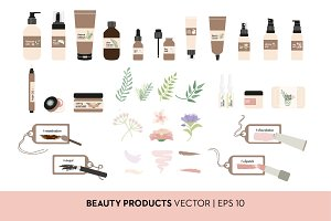 Vector Beauty and Make Up Products