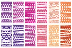 32 Aztec seamless patterns