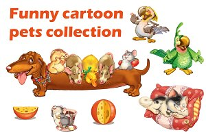 Cartoon pets