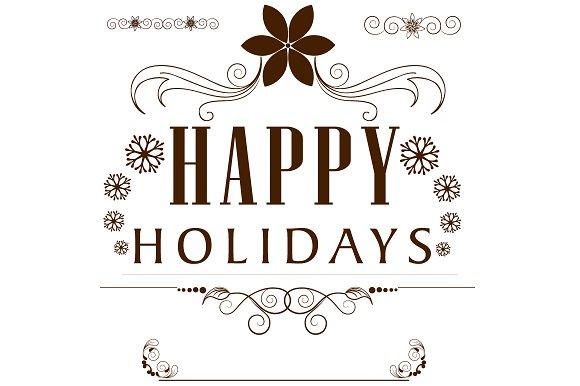 Happy Holidays, New Year Greetings ~ Illustrations ~ Creative Market