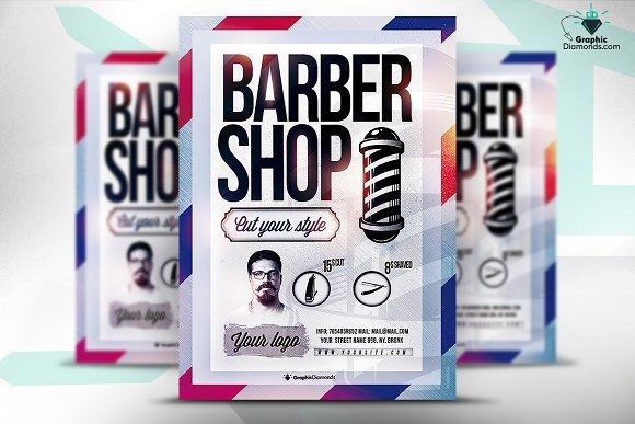 Barber Shop Psd Flyer Flyer Templates Creative Market