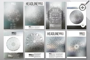 Set of 40 templates for brochures