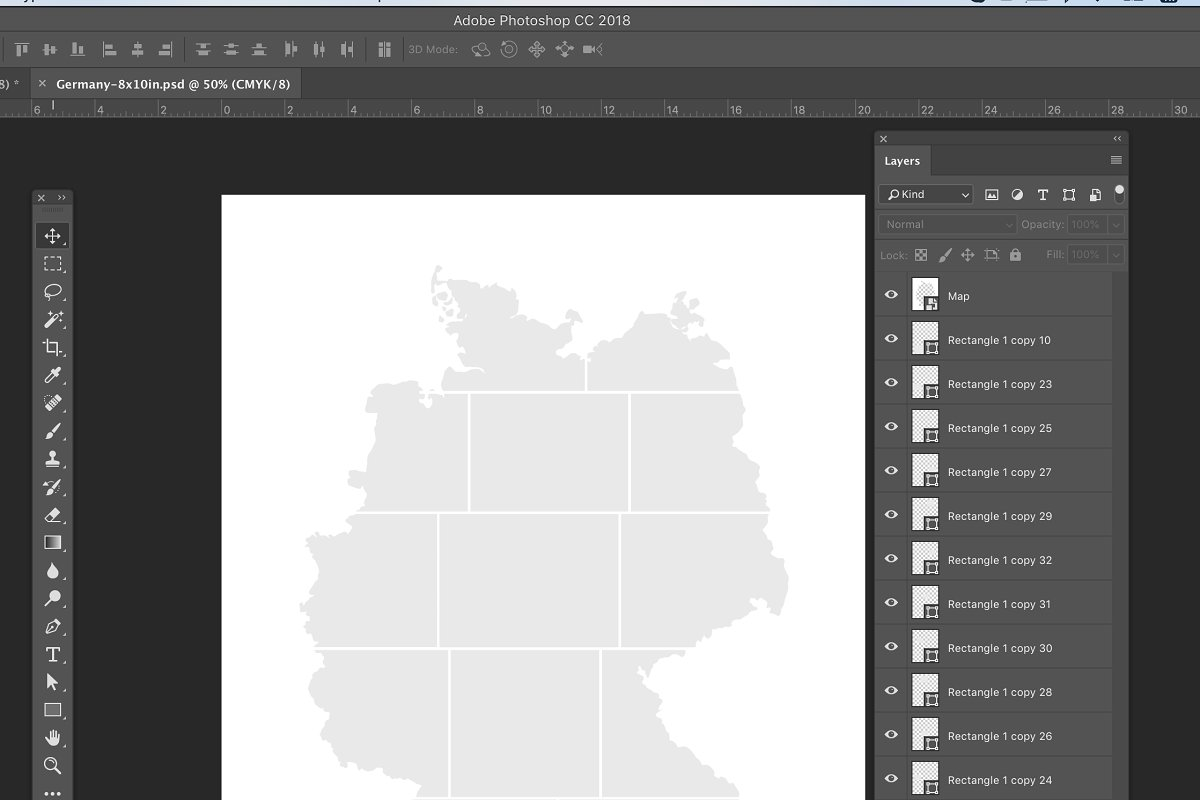 Germany map photo Collage Template