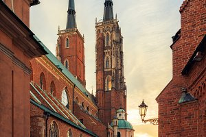 Wroclaw Tumski Island Church
