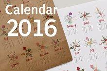 Fresh Flower Calendar for 2016.