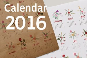Fresh Flower Calendar for 2016.