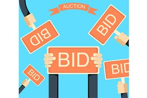 Auction and bidding banner