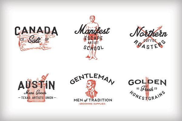 Vintage Americana Logos