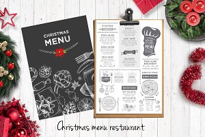 Food menu, restaurant flyer #24