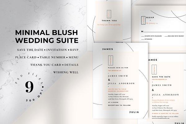 Minimal Blush Wedding Suite