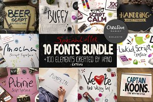 10 Fonts Bundle [85% OFF]