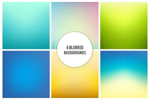 6 Vivid blurred backgrounds