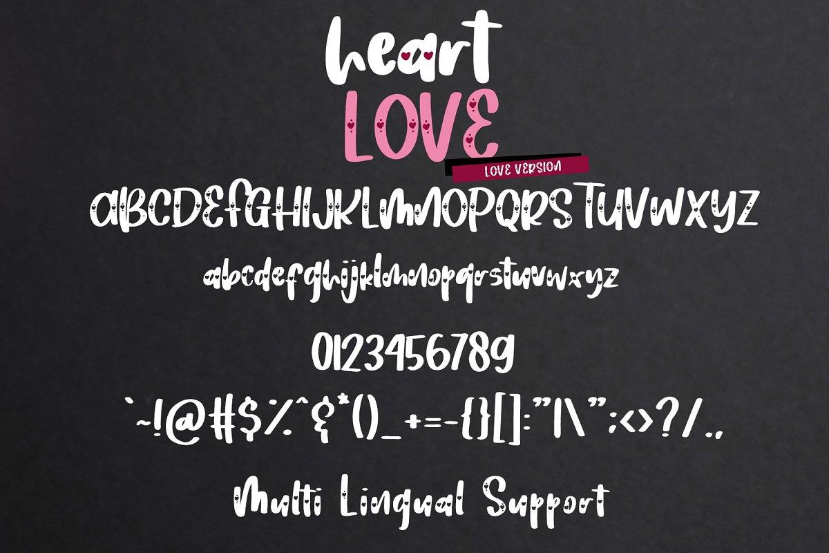 Heart Love - Lovely Font Duo