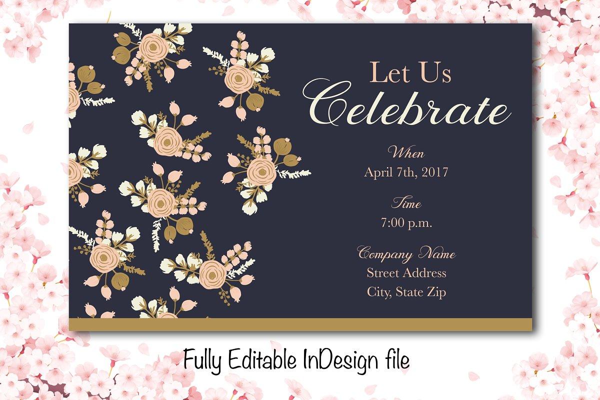 Elegant Floral Party Invite