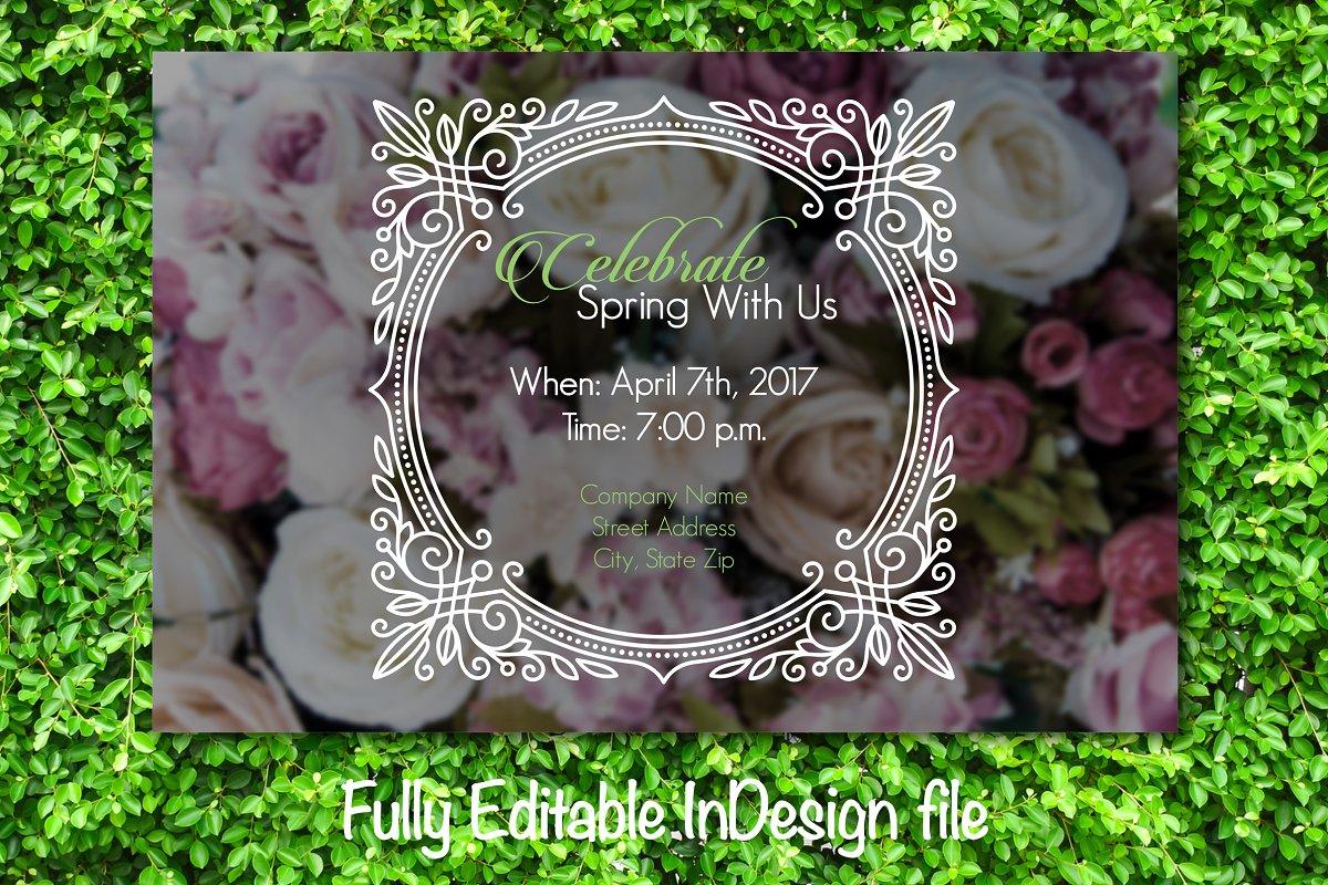 Celebrate Spring Party Invite